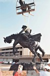 Cowboy Statue Construction