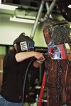 Metal Sculpting of Robotic Man by Art Student