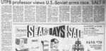 UTPB professor views U.S. -Soviet arms race, SALT II