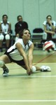 Volleyball Player's Saving Move